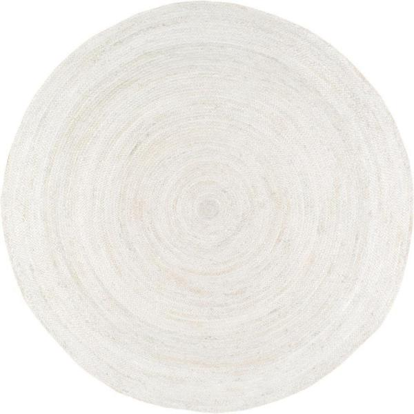 Rigo Chunky Loop Jute Off-White 4 ft. Round Rug