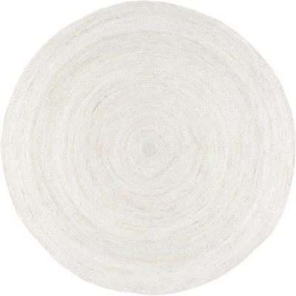 Rigo Chunky Loop Jute Off-White 6 ft. Round Rug