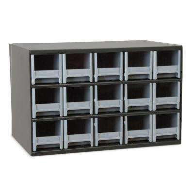 15-Compartment Steel Cabinet Small Parts Organizer
