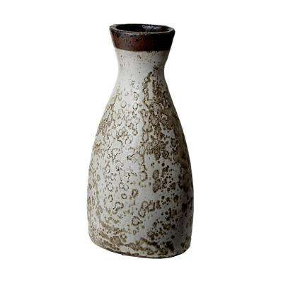 8 in. x 16 in. Earthenware Decorative Watering Jug in Rustic White