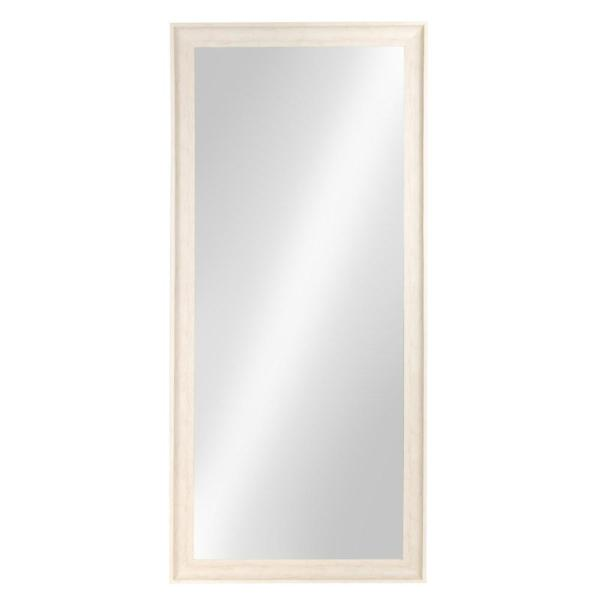 Kate and Laurel McKinley Rectangle White Leaning Mirror 209925