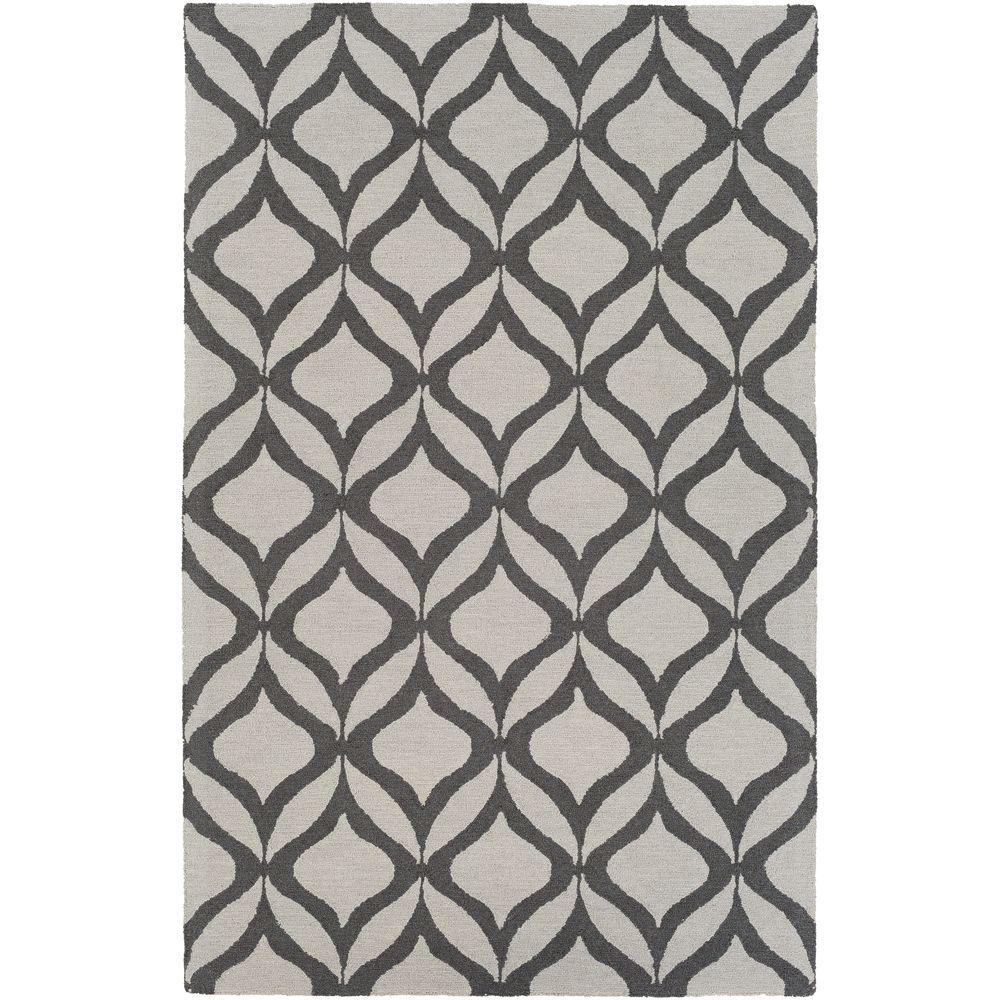 Impression Addy Gray 5 ft. x 8 ft. Indoor Area Rug
