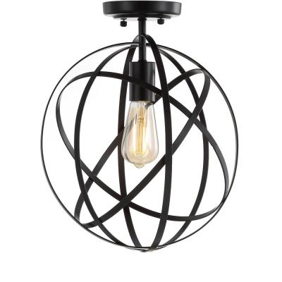 Alma 13 in. Oil Rubbed Bronze Metal LED Flush Mount