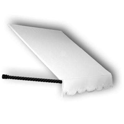 6 ft. Santa Fe Twisted Rope Arm Window Awning (31 in. H x 12 in. D) in Off-White