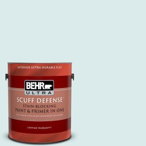 Behr Ultra 1 Gal Mq4 36 Thai Ice Tea Extra Durable Flat Interior Paint And Primer In One 172401 The Home Depot