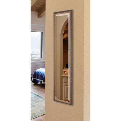 19 in. x 58 in. Traditional Cameo Bronze Rounded Beveled Slender Floor Body Mirror