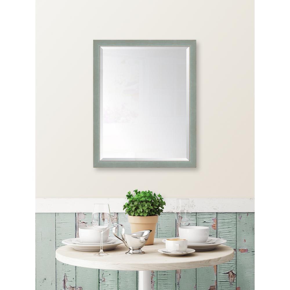 25 in. x 31 in. Framed Slate Mirror