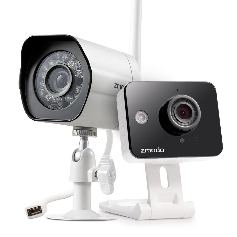 Exterior Home Security Cameras: Zmodo Mini Wireless Indoor Audio Monitoring Camera With