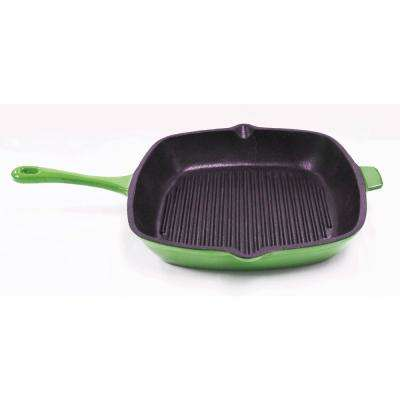 Neo 11 in. Cast Iron Green Square Casserole Dishes