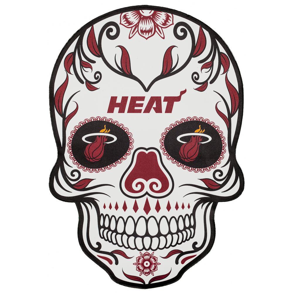 Applied Icon NBA Miami Heat Outdoor Skull Graphic- Small NBOS1601