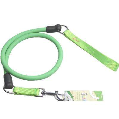 Neon Green Sporty-Dash Extreme-Stretch Performance Rubberized Dog Leash