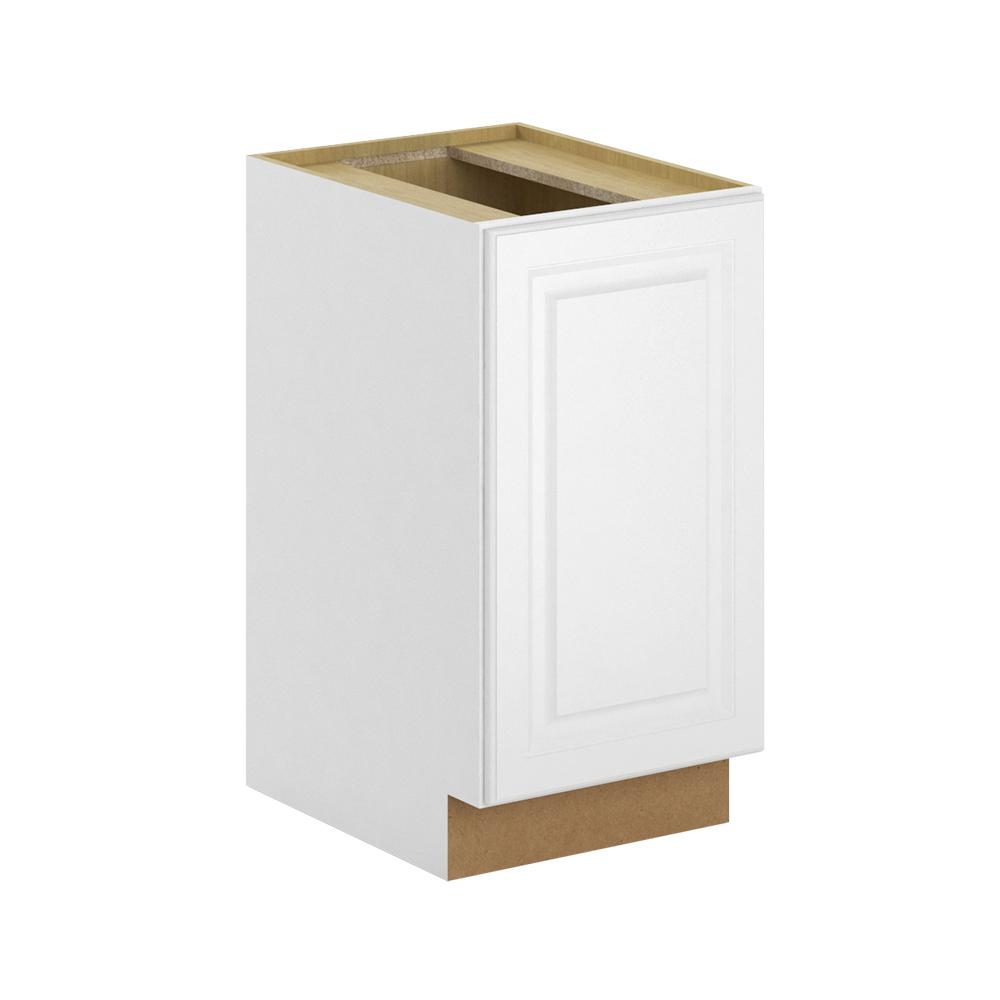 Hampton Bay Madison Assembled 18x345x24 In Pull Out Trash Can Base Kitchen Cabinet In Warm White