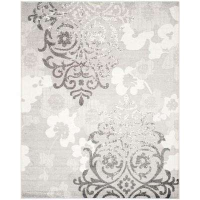 Adirondack Silver/Ivory 10 ft. x 14 ft. Area Rug