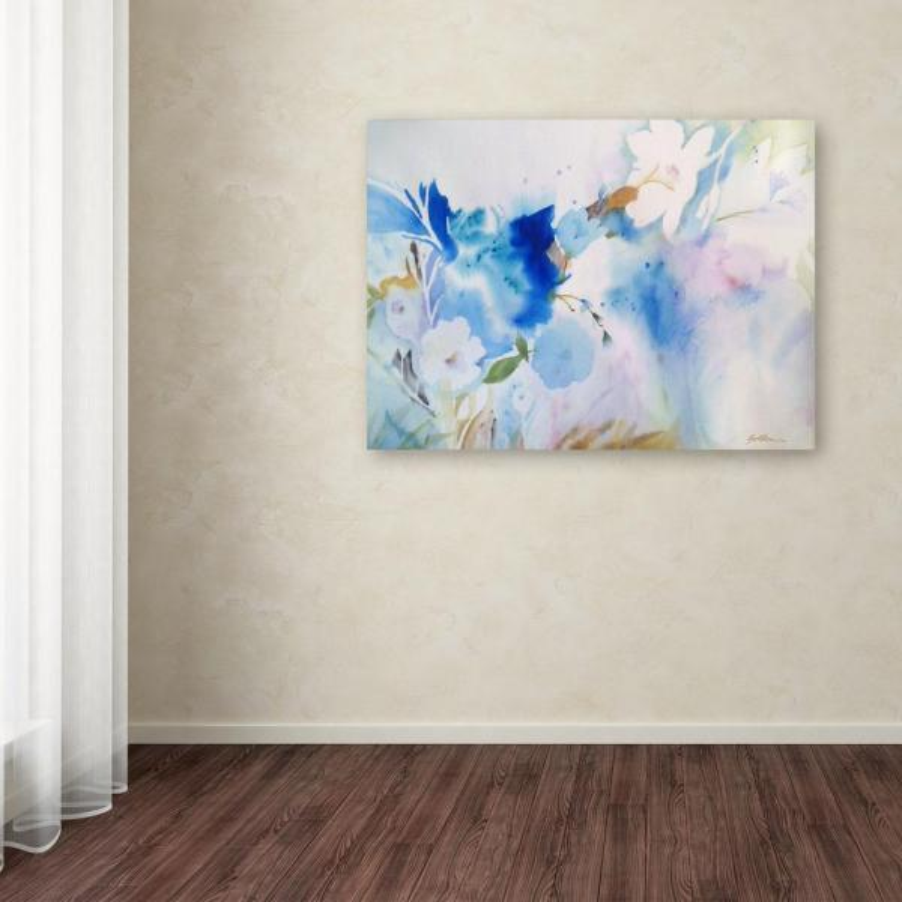 Trademark Fine Art 35 in. x 47 in. ''Blue Whispers'' by