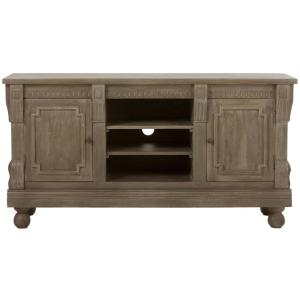 Parker Washed Grey Storage Entertainment Center