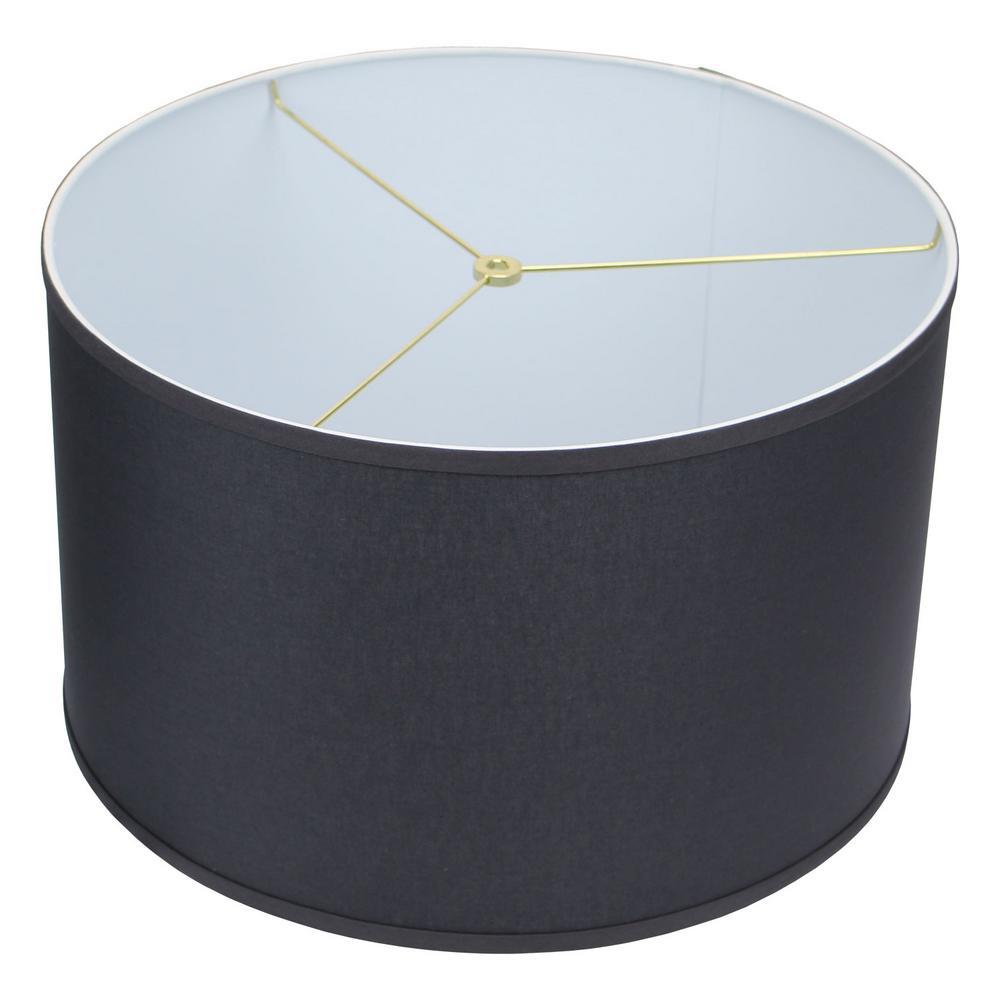 18 in. Top Diameter x 18 in. Bottom Diameter x 11 in. H Linen Charcoal Drum Lamp Shade
