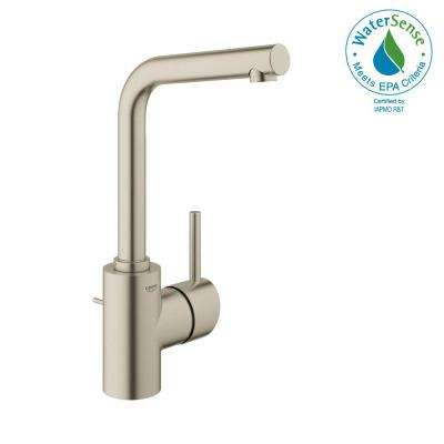 Concetto Single Hole Single-Handle Bathroom Faucet in Brushed Nickel