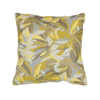 Dewey Yellow Square Accent Lounge Throw Pillow