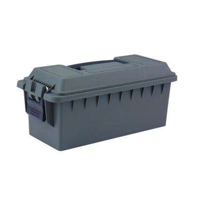13.5 in. x 5.5 in. Shotgun Shell and Ammo Storage Box in OD Green