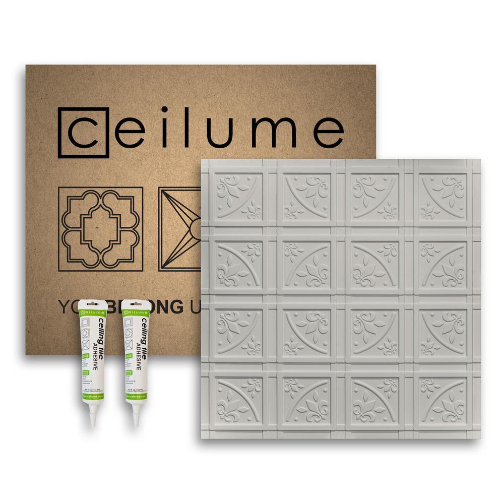 Lafayette Stone 2 ft. x 2 ft. Glue-up Ceiling Tile and Backsplash Kit
