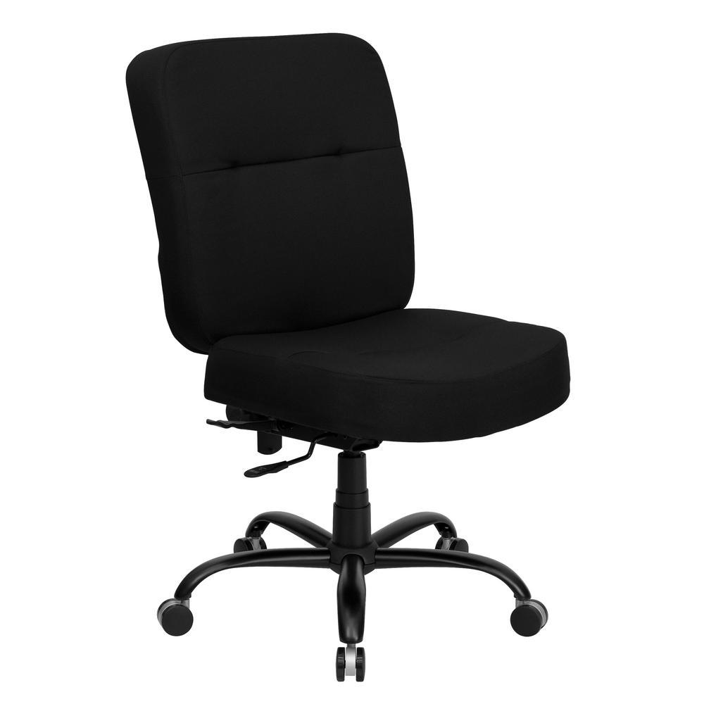 Flash furniture black fabric office desk chair