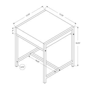 Internet #205146617. Monarch Specialties Glossy White End Table