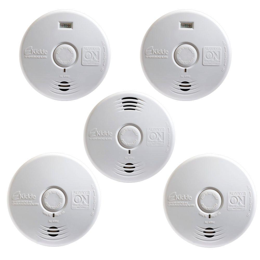 Kidde Worry Free 10-Year Battery Operated Complete-Whole Home Smoke Alarm Starter (5-Pack)