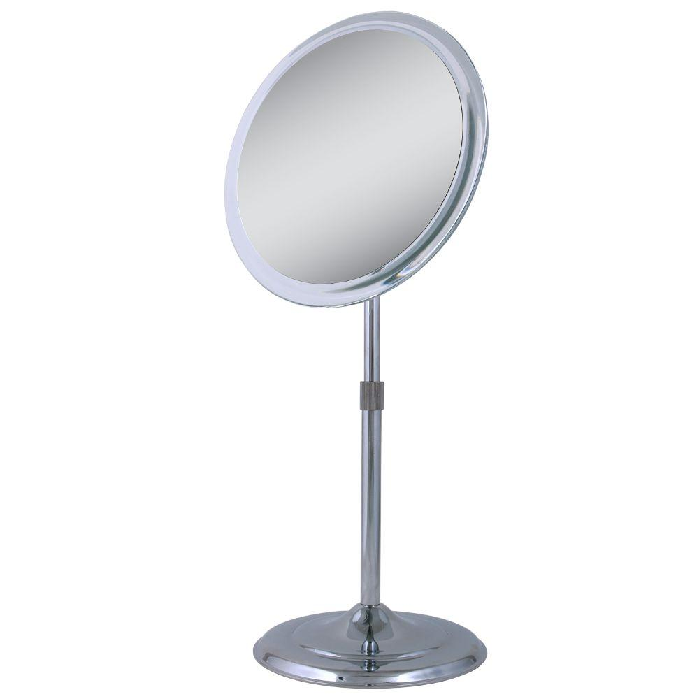 Zadro 9.5 in. x 15.5 in. Telescoping Vanity Mirror in Chrome-Z9V5 ...