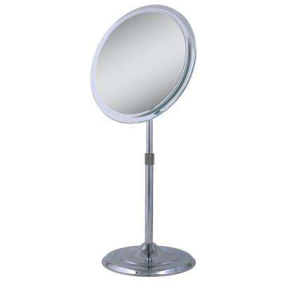 9.5 in. x 15.5 in. Telescoping Vanity Mirror in Chrome