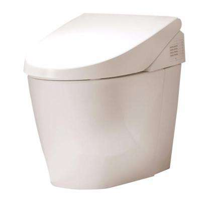 Neorest 500 1-Piece 1.05/1.28 GPF Dual Flush Elongated Toilet with Built-In Washlet in Cotton White
