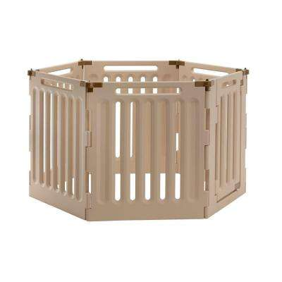 High 6-Panel Plastic Convertible Indoor/Outdoor Pet Playpen