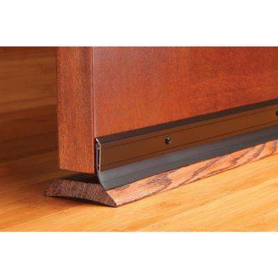 "DENY Deluxe Aluminum & Vinyl Door Sweep 36"" Brown"