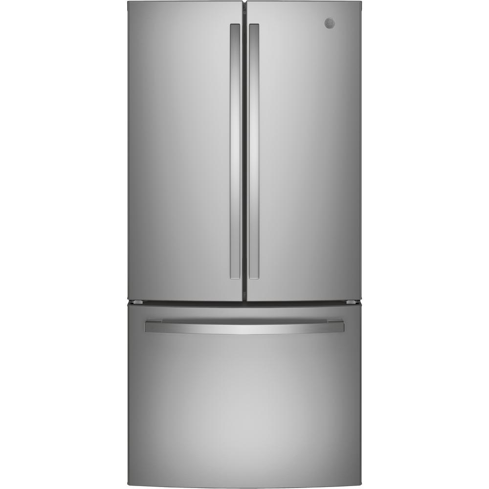 GE 18.6 cu. ft. French Door Refrigerator in Stainless Steel, Counter Depth-GWE19JSLSS - The Home Depot