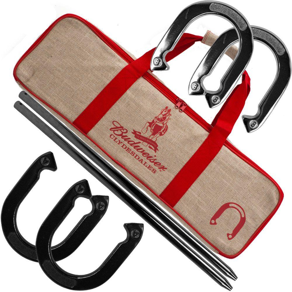 Trademark Games Budweiser Horseshoe Set with Carry Case