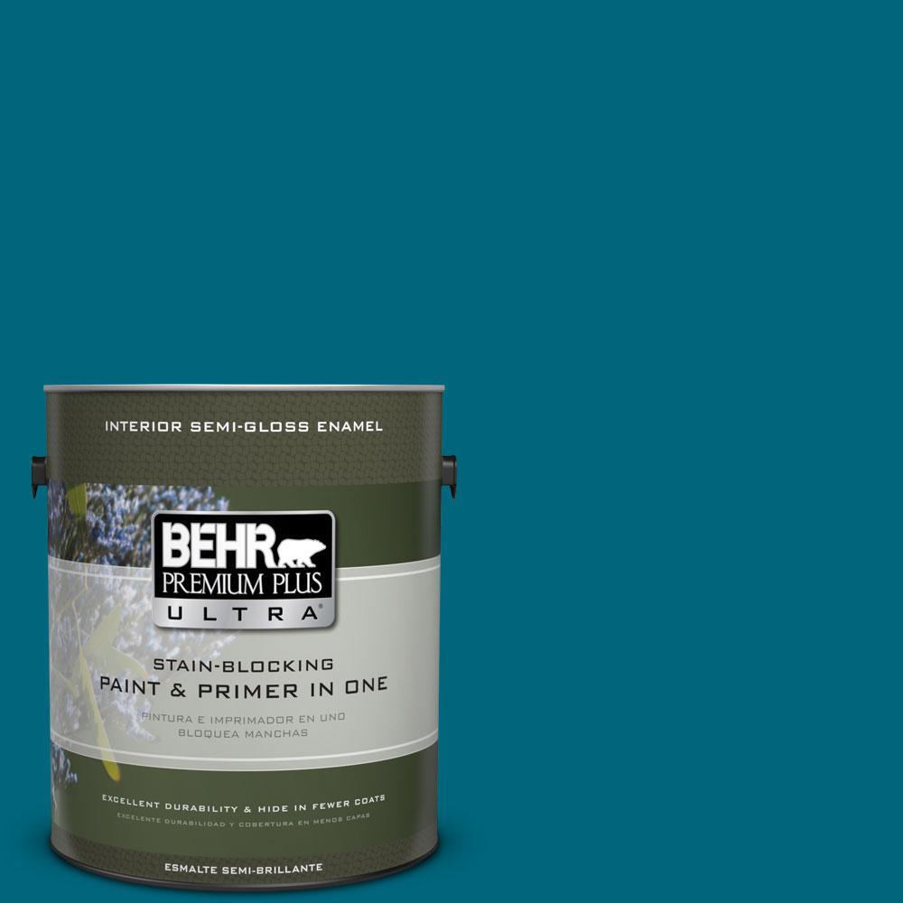BEHR Premium Plus Ultra 1-gal. #P480-7 Striking Semi-Gloss Enamel Interior Paint