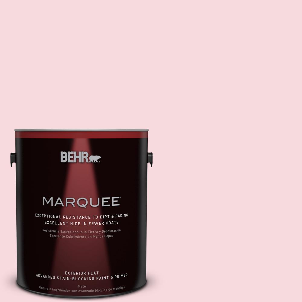 BEHR MARQUEE 1-gal. #130C-1 Powdered Blush Flat Exterior Paint
