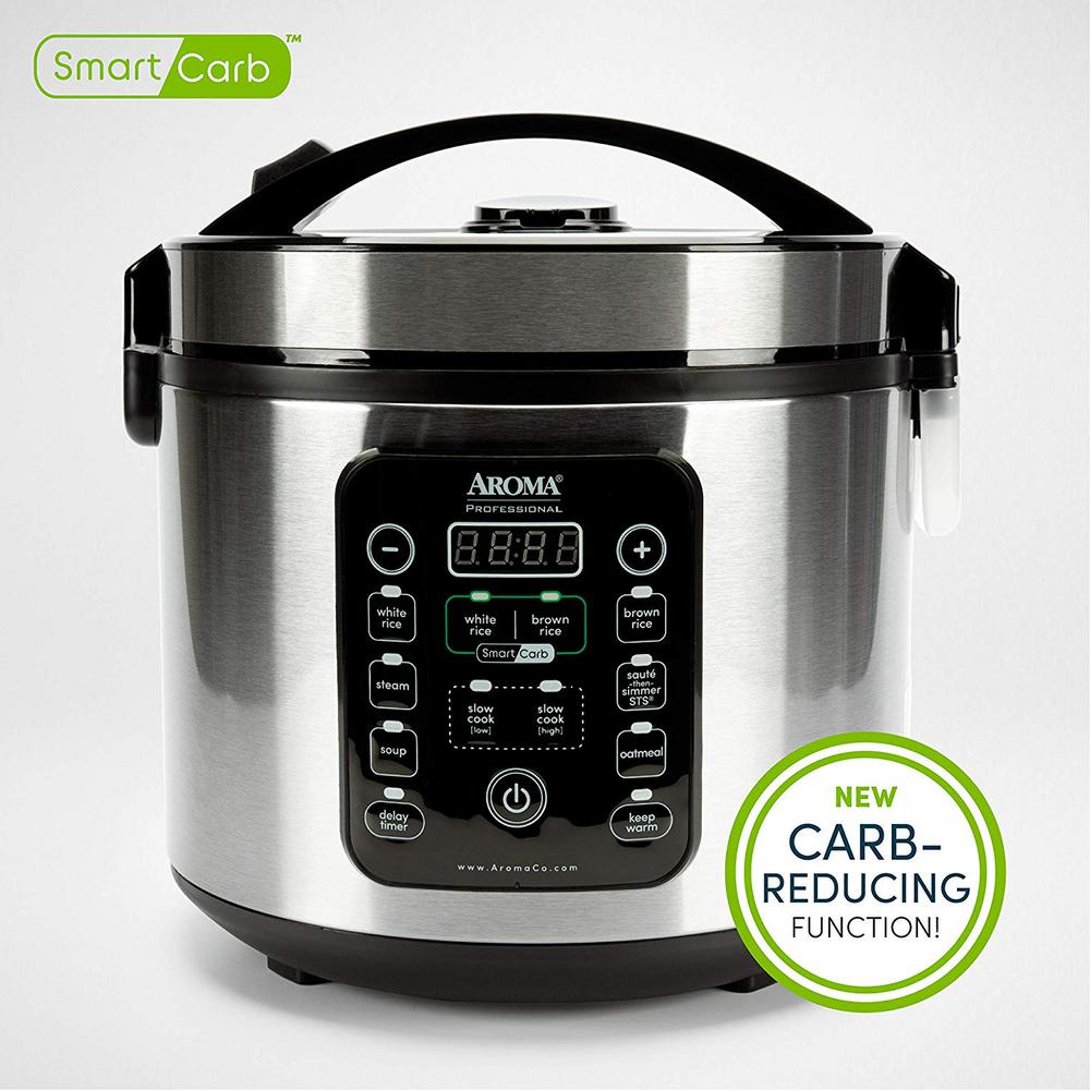 Aroma Arc-1120SBL 20 Cup Smart Carb Rice Cooker