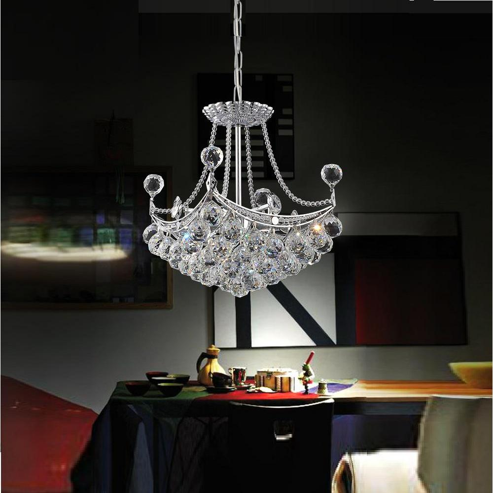 Jasmine 4-Light Chrome Pendant