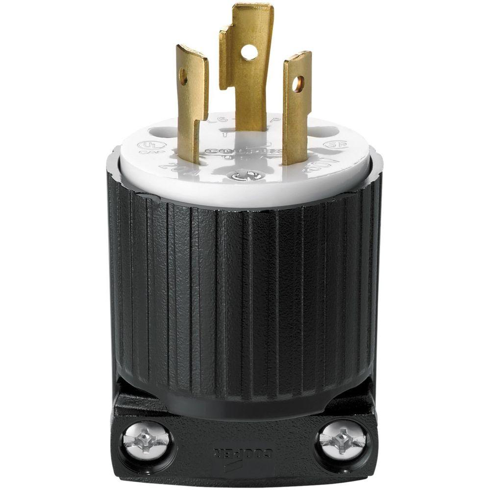 Twist Lock 30 Amp Electrical Plugs Connectors Wiring Devices A Plug Black To Gold Hart Industrial Grade 20 250 Volt With Safety Grip