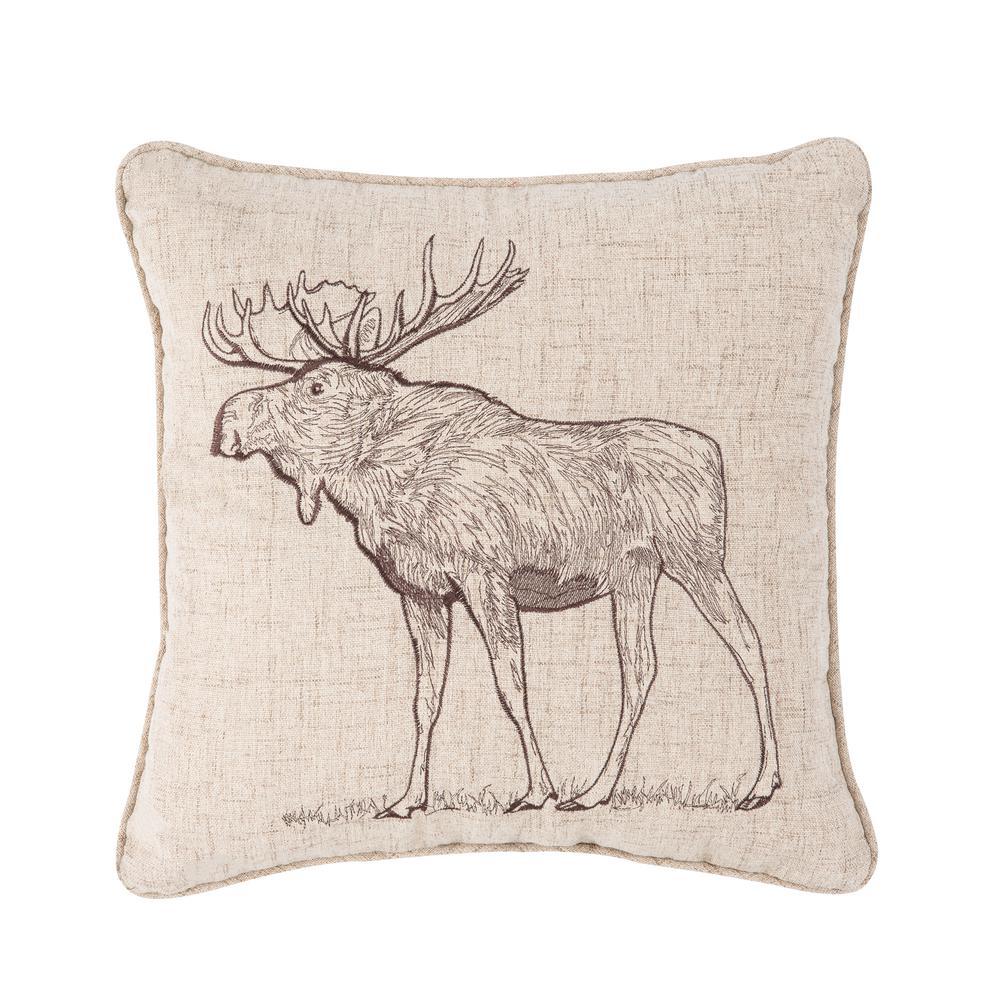 Forest Moose Standard Pillow