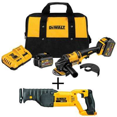 FLEXVOLT 60-Volt MAX Lithium-Ion Cordless Brushless 4-1/2 in. Angle Grinder with Bonus Reciprocating Saw