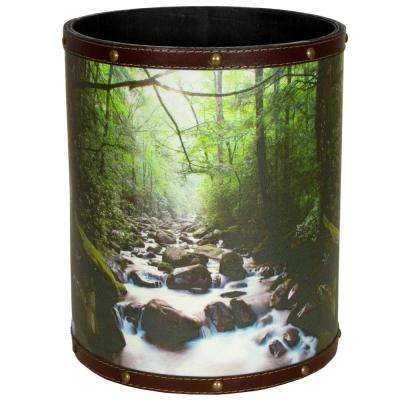 Oriental Furniture 8.25 in. x 10 in. River of Life Waste Basket