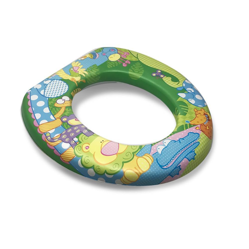 Children's Soft Toilet Seat- Zoo Animals Design