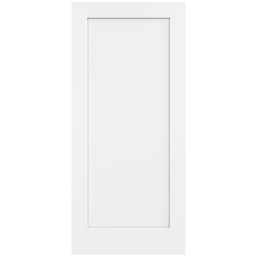 Jeld Wen 36 In X 80 In Madison White Painted Smooth Solid Core Molded Composite Mdf Interior