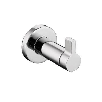 Modern Single Robe Hook in Chrome