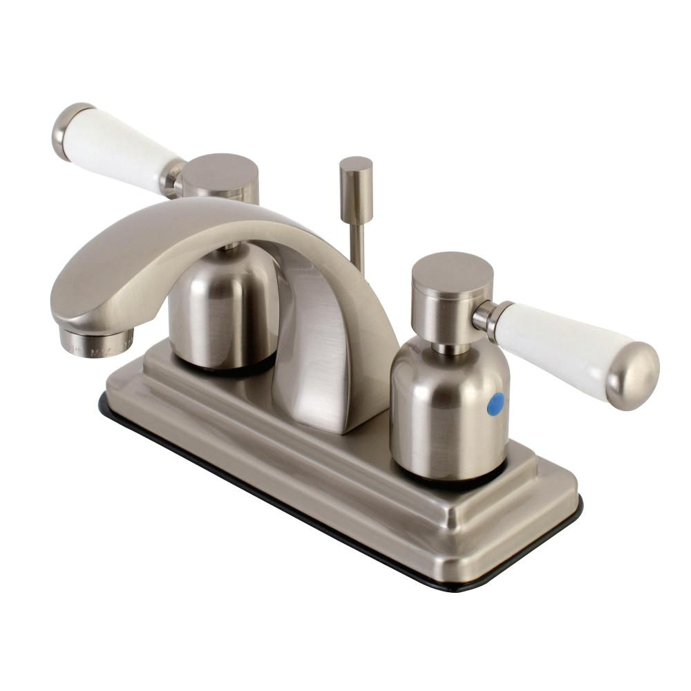 Kingston Brass 4 in. Centerset 2-Handle Bathroom Faucet in Brushed Nickel