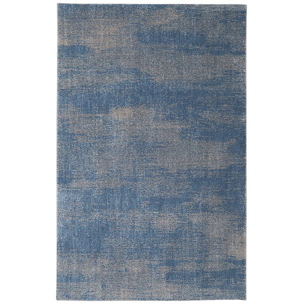 Chilmark Blue 5 ft. x 8 ft. Indoor/Outdoor Area Rug