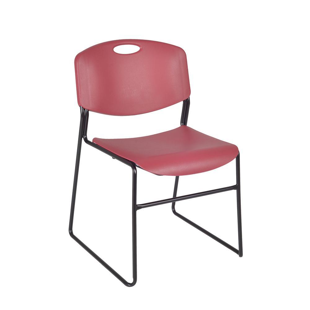 Genial Regency Zeng Burgundy Stack Chair