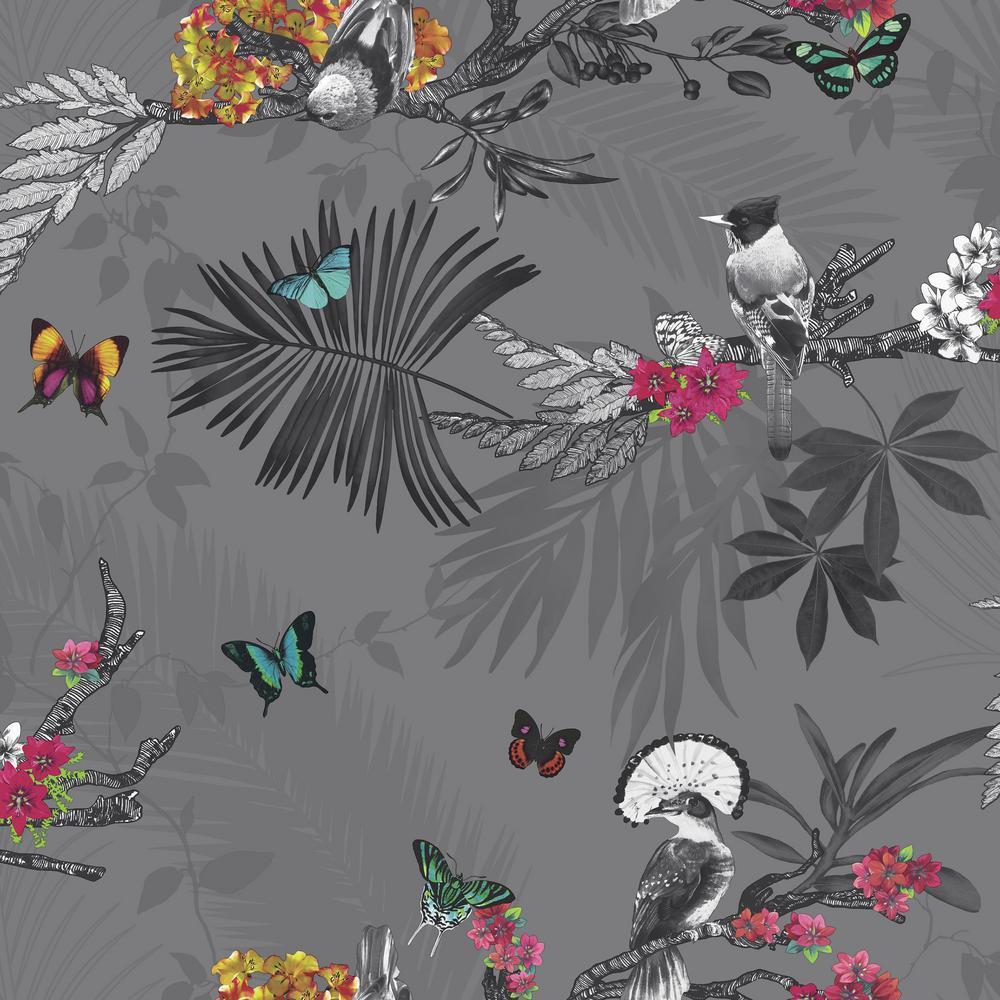 Mystical Forest Slate Wallpaper