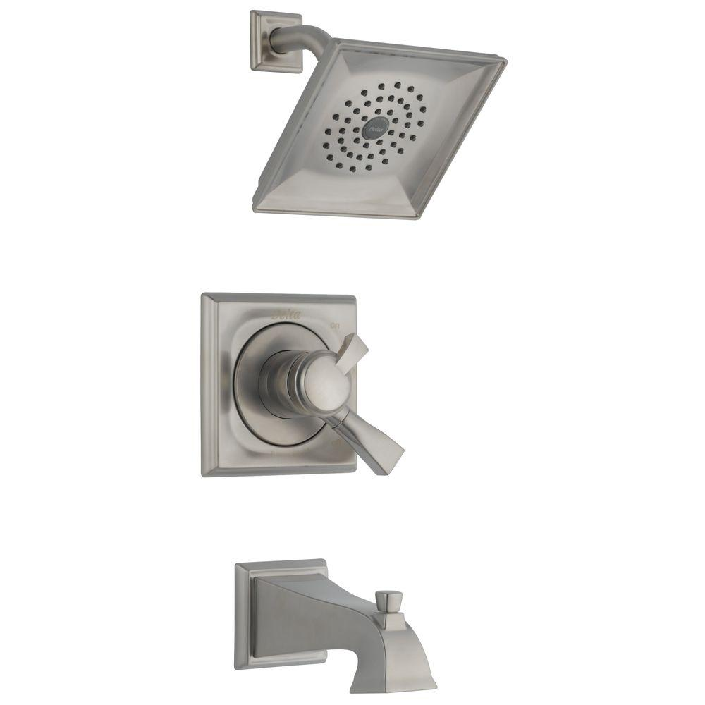 bathtub and shower faucet combo. Delta Dryden Single Handle 1 Spray Tub and Shower Faucet in Stainless  Valve